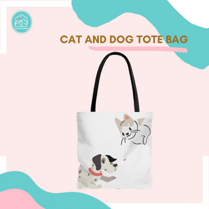 Cat and Dog Tote Bag