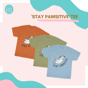 Open image in slideshow, 'Stay Pawsitive' Tee