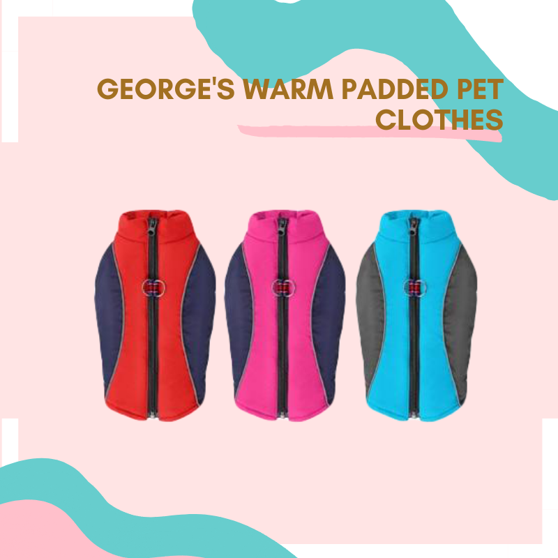 George's Warm Padded Pet Clothes
