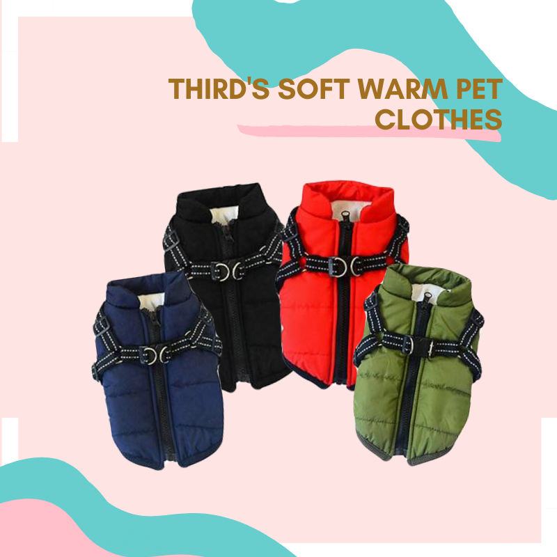 Third's Soft Warm Pet Clothes