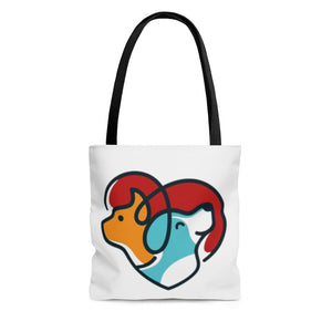 Open image in slideshow, Cute Heart Tote Bag