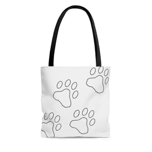 Open image in slideshow, Paw Print Tote Bag
