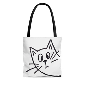 Open image in slideshow, Peeking Cat Tote Bag