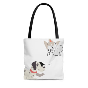 Open image in slideshow, Cat and Dog Tote Bag