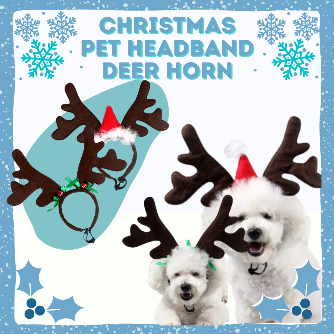 Christmas Pet Headband Deer Horn