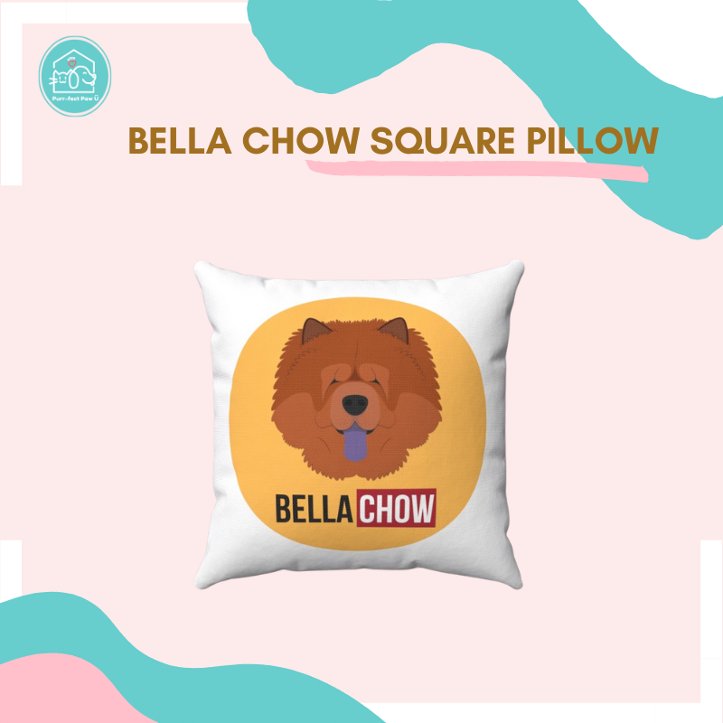 Bella Chow Square Pillow