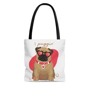 Open image in slideshow, I Puggin' Love You Tote Bag