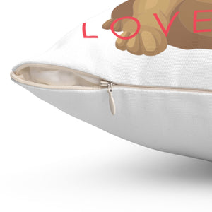 I Puggin' Love You Square Pillow