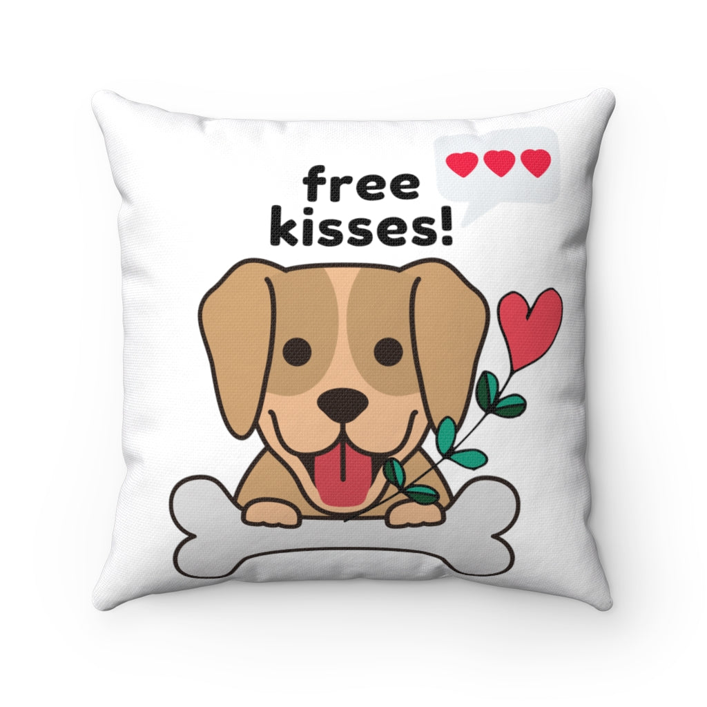 Free Kisses! Square Pillow