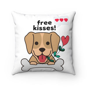 Open image in slideshow, Free Kisses! Square Pillow
