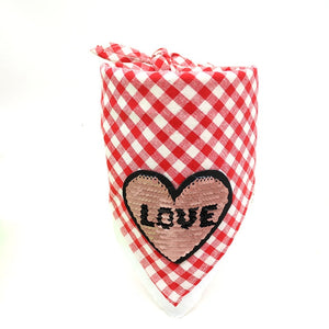 Open image in slideshow, Valentine's Day Pet Bandana
