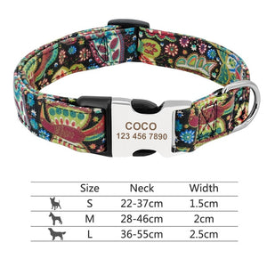 Open image in slideshow, Daisy Floral Customized Pet Collar