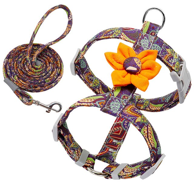 Flower Harness with Leash