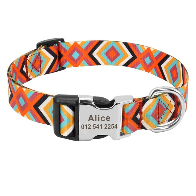 Retro Pattern Customized Collar