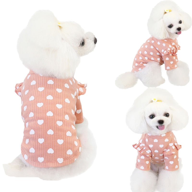 Heart Pattern Pet Clothes