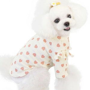 Open image in slideshow, Heart Pattern Pet Clothes