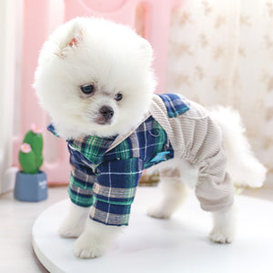 Knoa's Plaid Pet Overalls