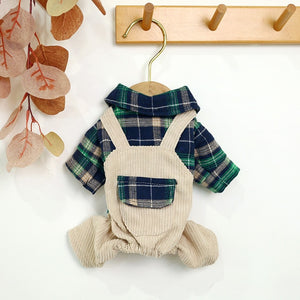 Open image in slideshow, Knoa's Plaid Pet Overalls