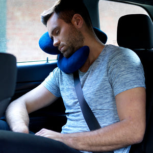 J-pillow travel pillow - Blue