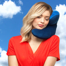 Load image into Gallery viewer, J-pillow travel pillow - Two tone blue
