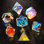 Load image into Gallery viewer, Dichroic Glass Breathtaking Gemstone Dice