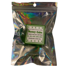 Load image into Gallery viewer, The Money Cube Soap Bar Real Cash Up To 100 Dollars Jackpot Green With Fruity Scent