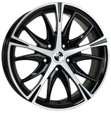 8X18 WOLFHART CALIFORNIA GLOSS BLACK POLISHED ALLOY WHEELS