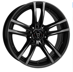 8.5X18 WOLFRACE EUROSPORT X10X RACING BLACK ALLOY WHEELS