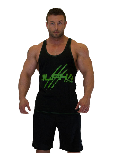 "Men's ""Alpha"" Stringer (Black - Green)"