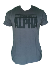 "Men's ""Natural Born Alpha"" T-Shirt (Charcoal)"