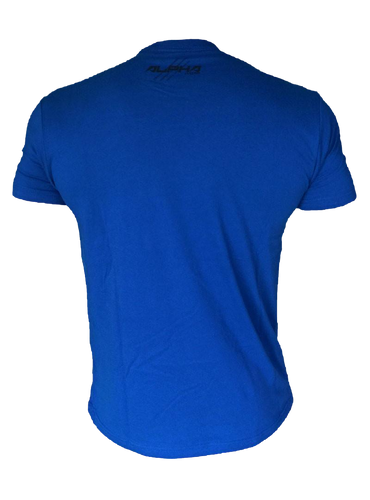 "Men's ""Natural Born Alpha"" T-Shirt (Royal Blue - Black)"