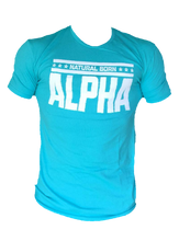 "Men's ""Natural Born Alpha"" T-Shirt (Turquoise)"