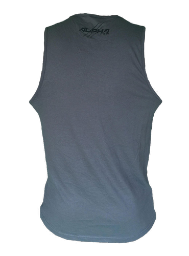 "Men's ""Natural Born Alpha"" Tank (Charcoal)"