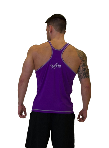 "Men's ""Alpha"" Stringer (Purple-Silver)"
