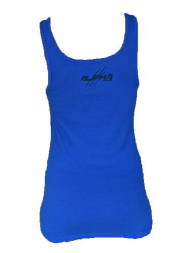 "Women's ""Natural Born Alpha"" Tank (Royal Blue)"