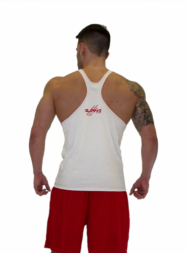 "Men's ""Alpha"" Stringer (White-Red)"