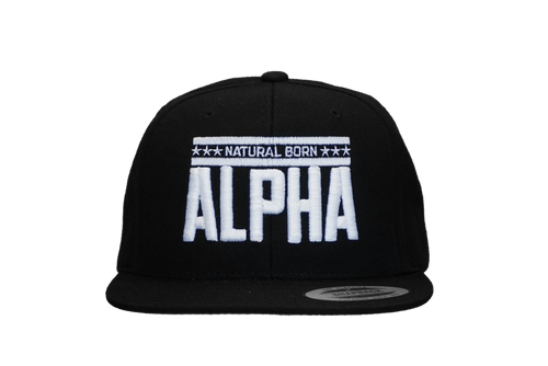 "Snap Back ""Natural Born Alpha"" Hat (Black)"