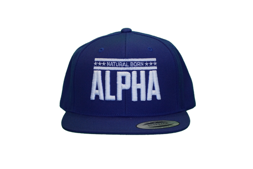 "Snap Back ""Natural Born Alpha"" Hat (Royal Blue)"