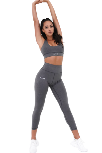 High Waisted Leggings (Heathered Gray)