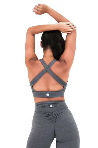 Sports Bra (Heathered Gray)