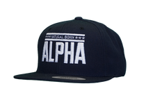 "Snap Back ""Natural Born Alpha"" Hat (Navy Blue)"