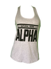 "Women's ""Natural Born Alpha"" Tank (Gray)"