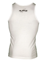 "Men's ""Natural Born Alpha"" Tank (White)"