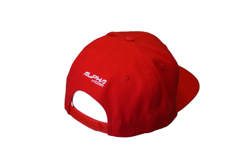 "Snap Back ""Alpha"" Hat (Red)"