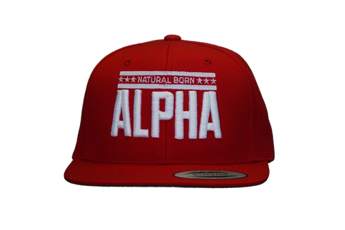 "Snap Back ""Natural Born Alpha"" Hat (Red)"