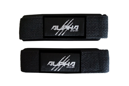 Alpha Wear Lifting Straps- Black/Black