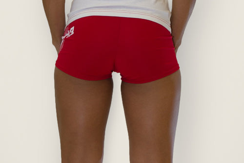 Women's Fitness Shorts Red