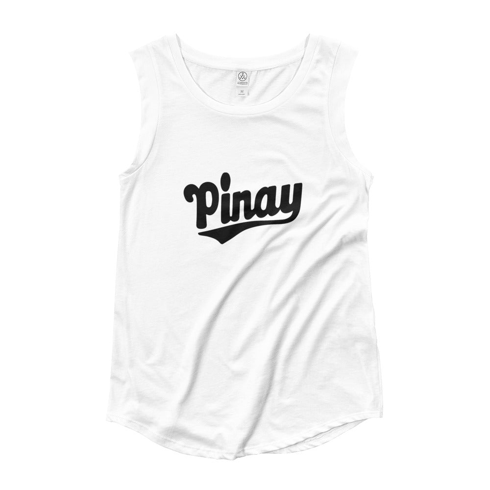 OG PINAY DESIGN Cap Sleeve T-Shirt