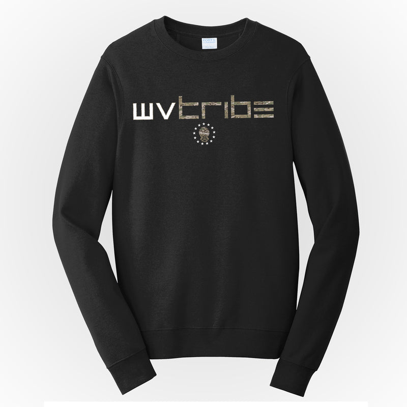 WV Tribe Camo Men's Crewneck Sweatshirt