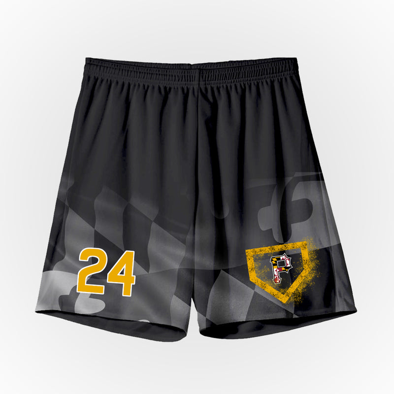 Olney Bucs/Pirates Black Practice Short